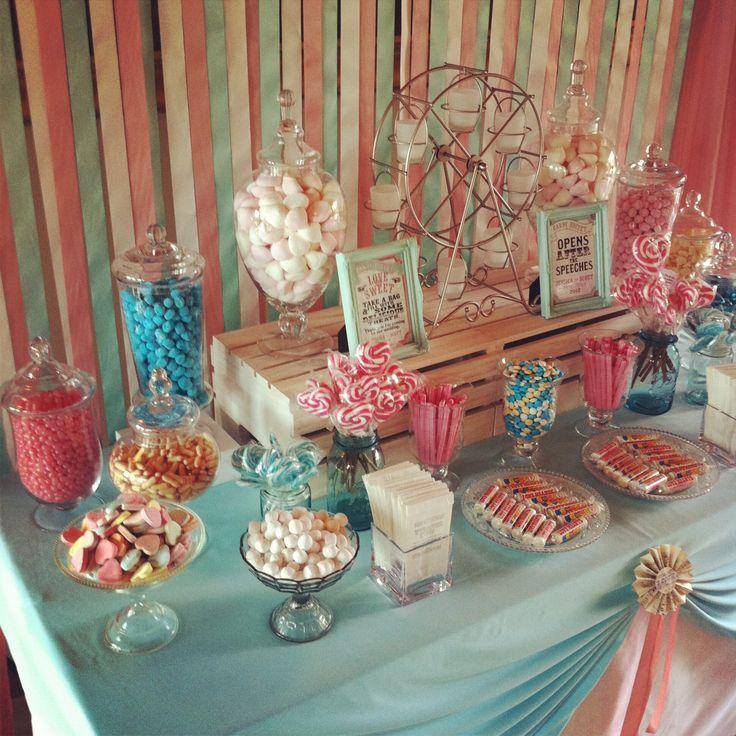 wedding shower candy buffet ideas%0A pretty blue and pink table for a baby shower    Wedding Theme InspirationWedding  IdeasCandy