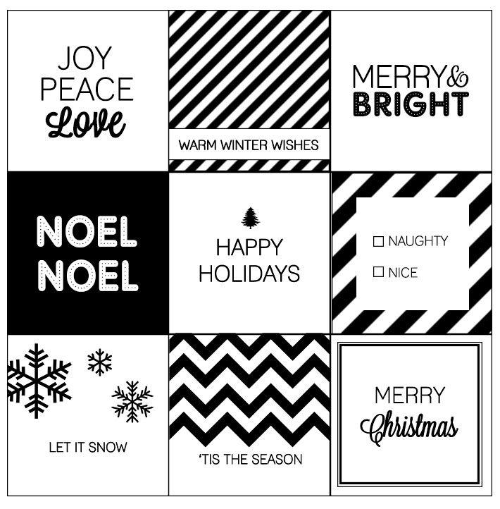 Modern Christmas Printable Gift Tags