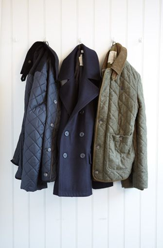 Gentlemans Coat Tales | Jack Wills - Quilted Jacket, Navy Peacoat, Wool Quilted Jacket