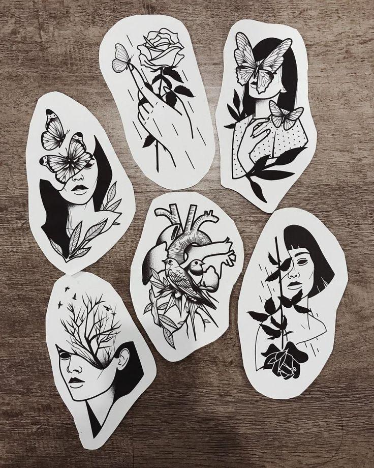 Flash de mulheres e flores. #desenho #drawing #art #arte #tattoo #tatuagem