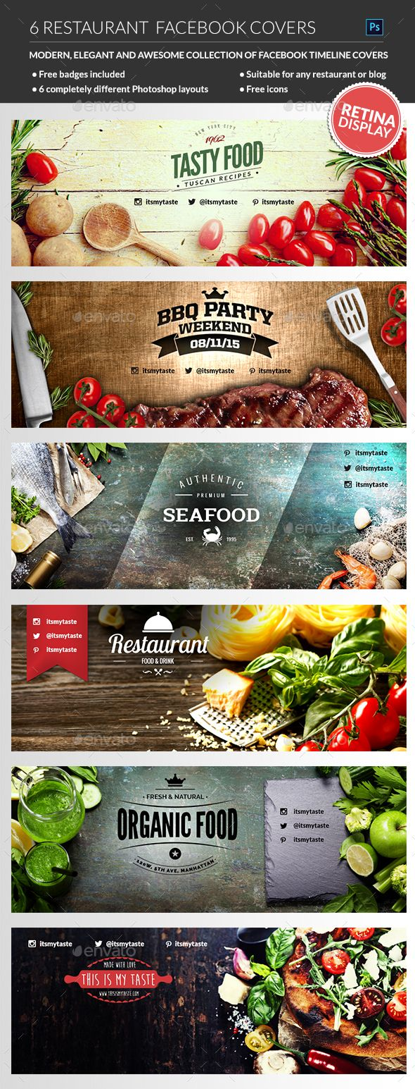 Restaurant Facebook Covers - Facebook Timeline Covers Social Media