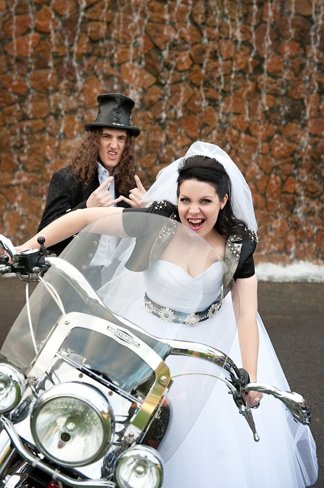 Eighties Heavy Metal Wedding: Jill & Simon Rock'n'Roll Bride