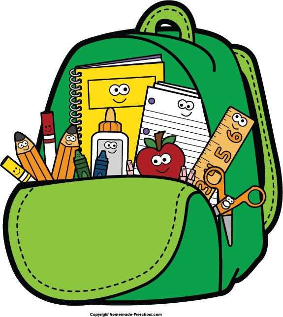school backpack clip art clipartwiz teacher pinterest school rh pinterest com school supplies clip art images school supplies clipart free images