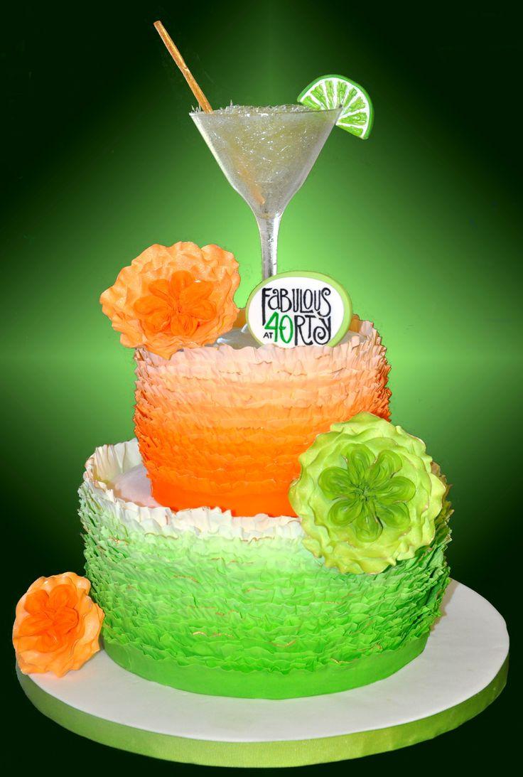 ... tier margarita cake to match isomalt glass and margarita topper