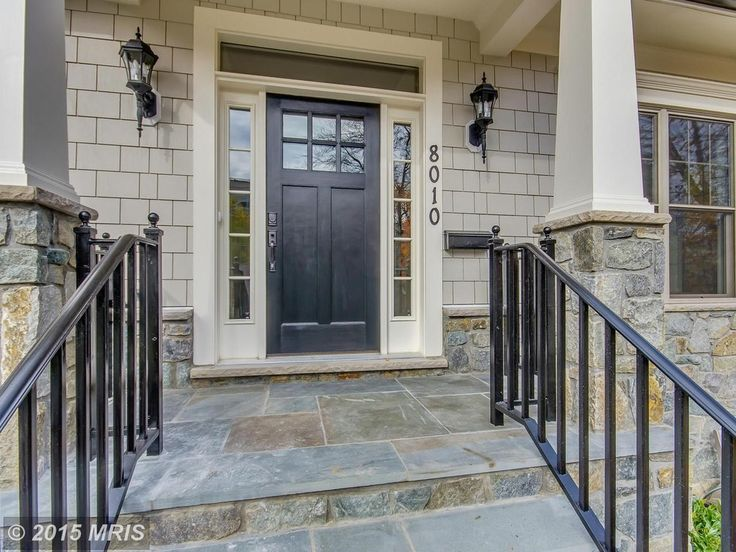 Traditional Front Door with GAF Weatherside Emphasis Shingle Siding, Custom Pella Craftsman Door with Sidelites