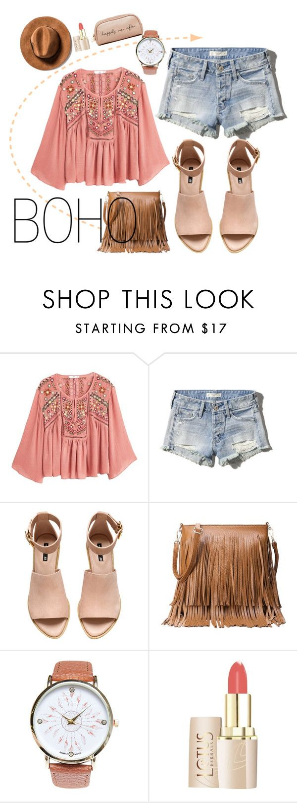 """""""boho"""" by camilazeballo on Polyvore featuring moda, MANGO, Abercrombie & Fitch, H&M, Wet Seal, Deux Lux, casualoutfit, Bohemian y nude"""