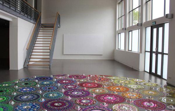 Landscape Floor Installations by Suzan Drummen