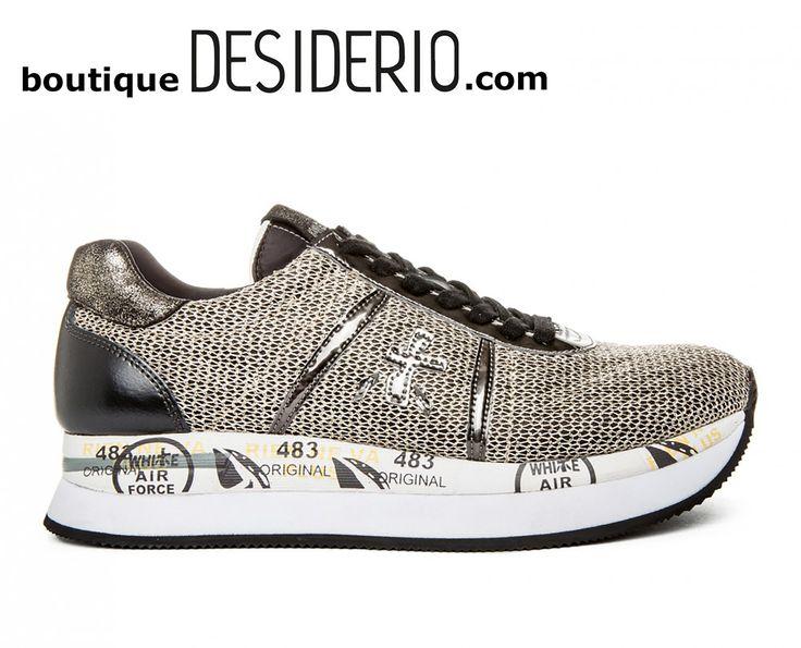 DESIDERIO boutique - PREMIATA CONNY 2596 sneaker donna tessuto retato oro  autunno inverno 2017 2018 www