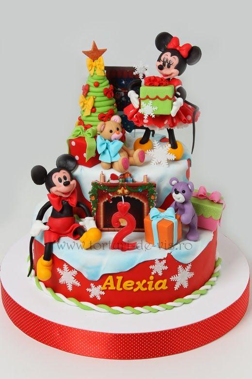 Mickey's birthday Christmas cake