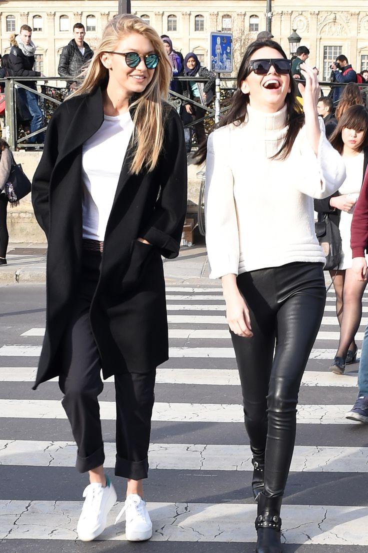 Gigi Hadid + Kendall Jenner 2015 Casual Streetstyle