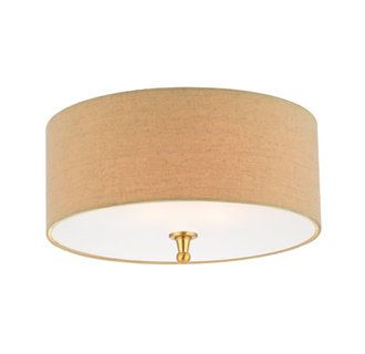 Thomas Lighting M2718 Transitional 2 Light Flushmount Ceiling Fixture with Drum Shaped Linen Shade from the · Front HallwayHall ...  sc 1 st  Pinterest & 56 best Front hall lighting images on Pinterest | Ceiling lights ... azcodes.com