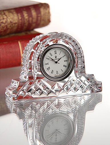 Waterford Crystal Small Mantel Clock Desk Accessory Nightstand Ireland Irish  #WaterfordCrystal