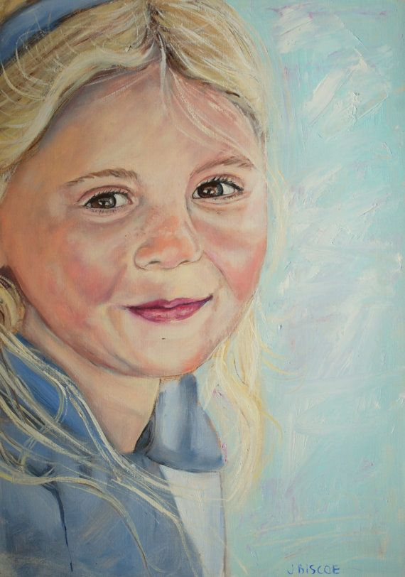 Custom Portrait oil painting A3 painted from by ArtByJenBiscoe