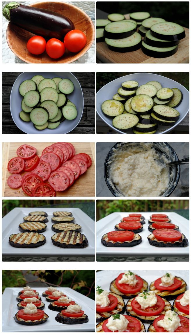 Eggplant Appetizer | Homemade Food Recipes. It looks like zucchini. I thought it was. I will make it with zucchini and a cooked down balsamic drizzle. Yum.