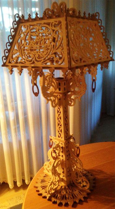 67 best Scroll saw: Lamp images on Pinterest | Table lamps ...