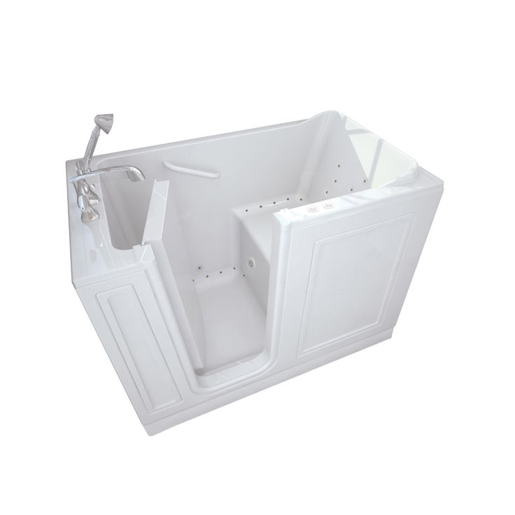 american standard acrylic standard series 51 in walkin whirlpool and air bath tub with quick drain in the home depot - Bathtubs At Lowes