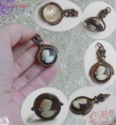 "Vanyssa Vintage - Bijuterii Vintage: ""80's Romantic Victorian Revival Vintage"" - Medali..."
