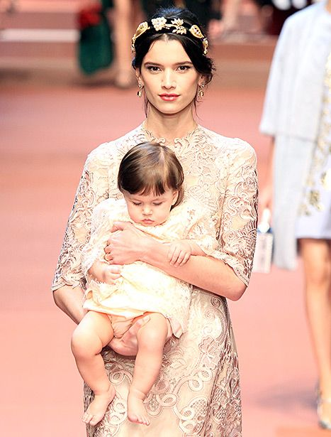 Dolce & Gabbana Sends Pregnant Model, Babies Down the Runway - Us Weekly