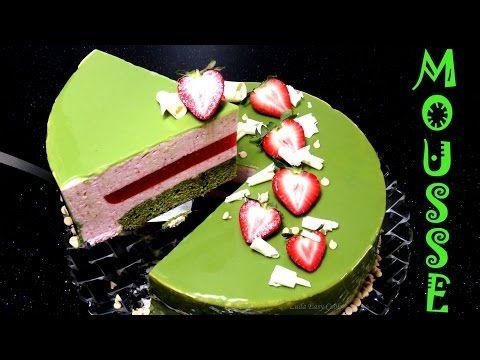 #Муссовый #торт с клубникой и японским зеленым чаем Матча #LudaEasyCook bánh kem rau câu trà xanh - YouTube