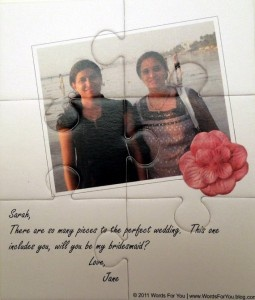 will you be my maid of honor? puzzle invitation