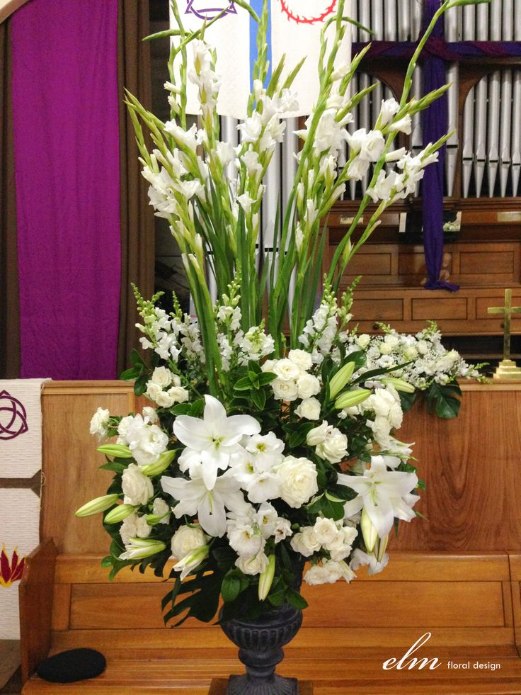 large urn arrangement white