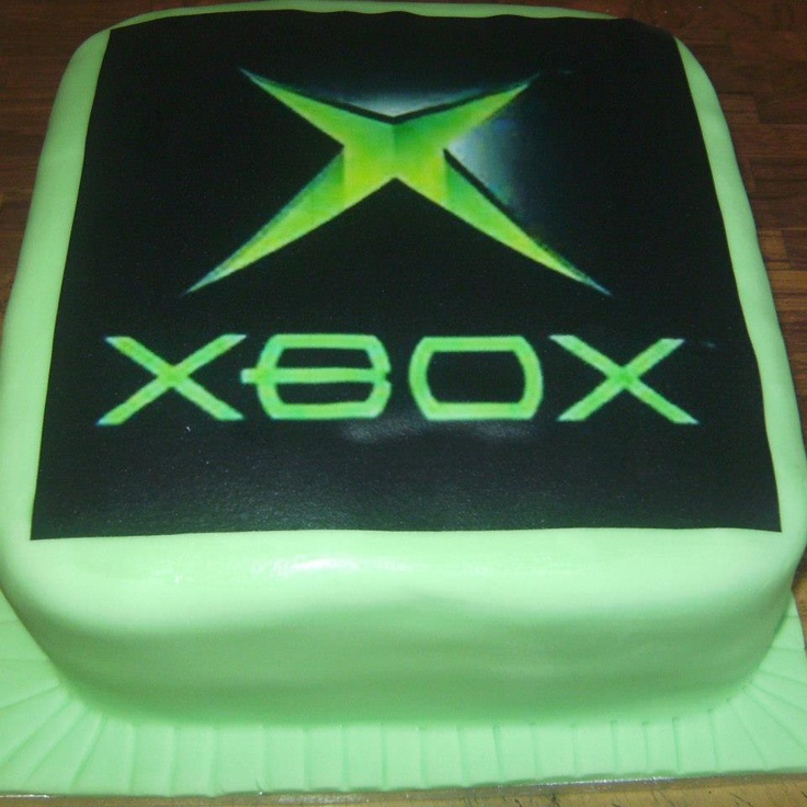 Xbox Birthday Cake Designs : XBOX cake Boden s video game party Pinterest ...