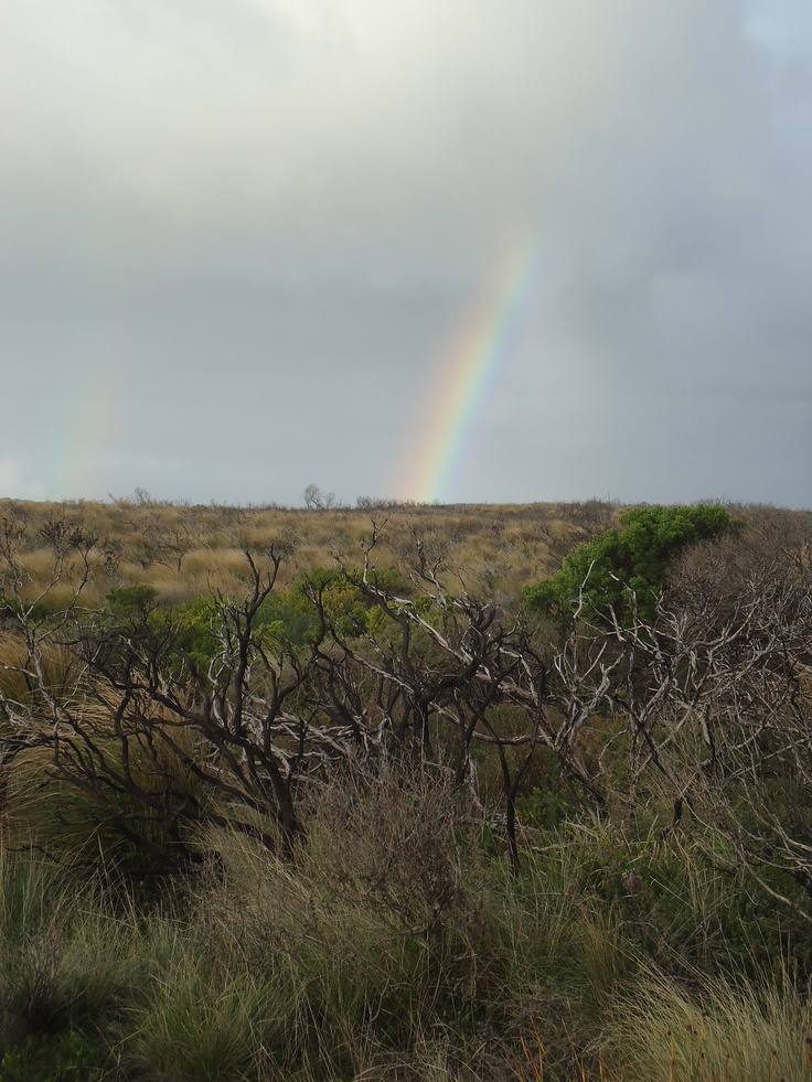 """Double Rainbow in Australia. I call it """"Land of the Rainbows"""" as I saw one about every third day."""