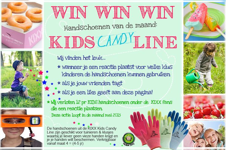 Facebook Like and Win action. Win one of the Kids Candy Line Gloves. Like KIXX safety and we will choose a winner at the end of this month! www.facebook.com/... safety