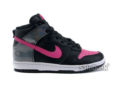 cfb9b30a9f6c best price nike dunks hi black hot pink sparking girls shoes 2015 nike dunk  . 6413f