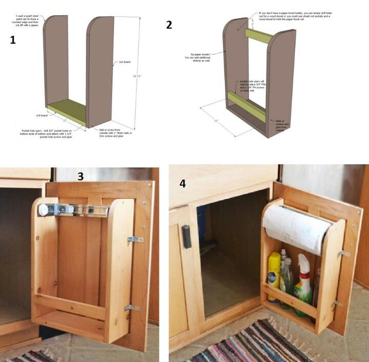 Under Sink Organizer But Without The Paper Towel Holder