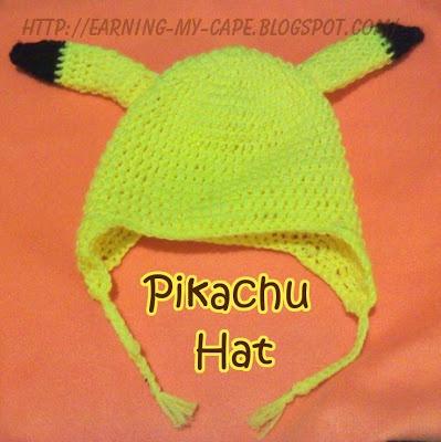 Crochet Pikachu Hat (Free Pattern)