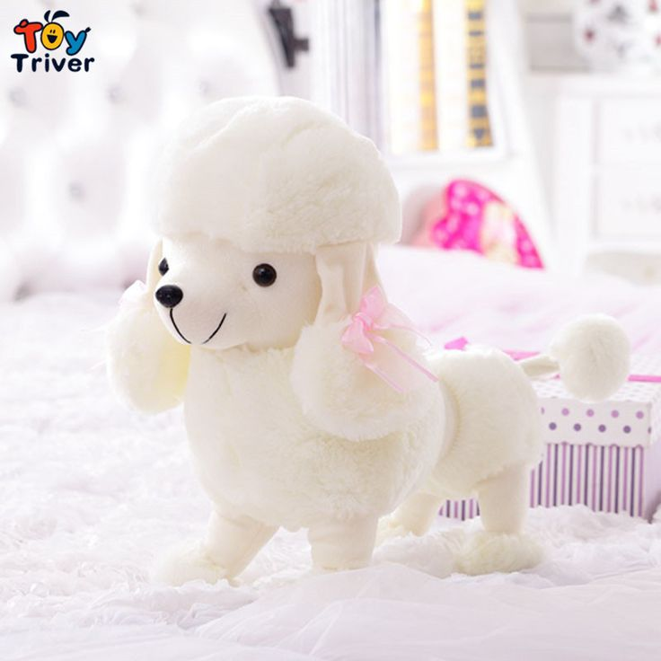 $10.99!Creative Simulation Plush Poodle Dog Doll stuffed Animal Toy for Children Dog Lover Birthday Kid Gift Free Shipping  Triver Toy