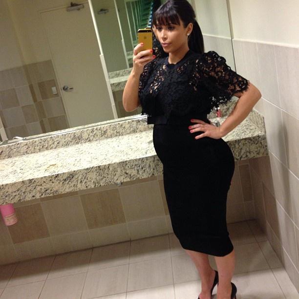 Today's outfit! #Alaia #Dolce #Sears - @kimkardashian- #webstagram