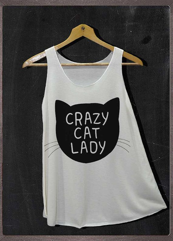 Crazy Cat Lady Animals Shirt Tank Top Women Size S by FourthSeason, $14.99