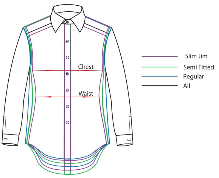 Mens size fitting guide vision presentation mood for How to measure shirt size for man