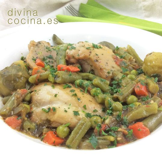 Pollo a la jardinera » Divina CocinaRecetas fáciles, cocina andaluza y del mundo. » Divina Cocina
