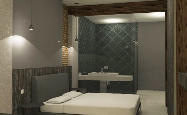 Guest room Bathroom concept for Boutique Hotel