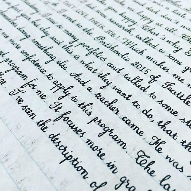 Plaisir des yeux: Elégante et soignée, la plus belle écriture glisse sur le papier - Société - lematin.ch