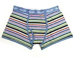 Etiko - Pants To Poverty - Mens Fly Front Pastel Stripe - Fairtrade