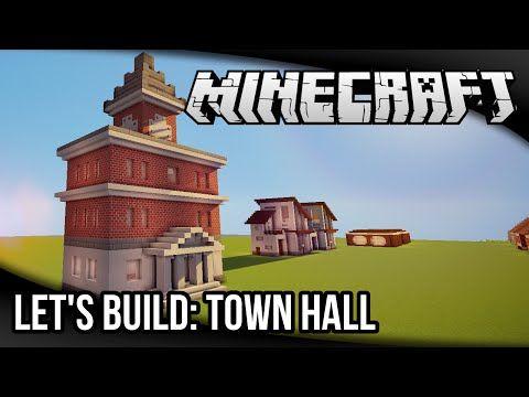 minecraft hall town build let medieval buildings blueprints planning lets modern
