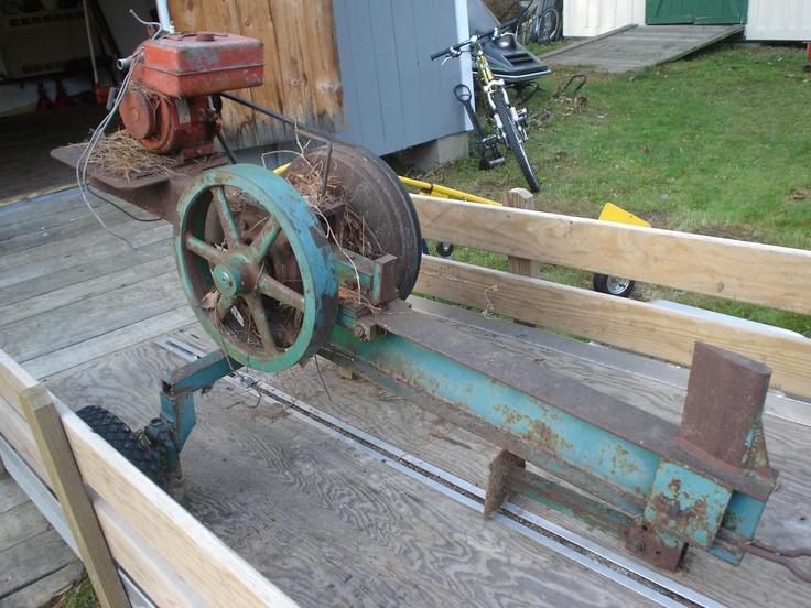Home Built Flywheel Log Splitter Log Splitter Wood