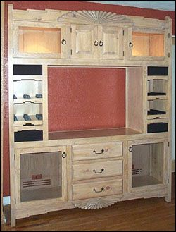 Cochiti Media Storage Cabinet - Custom Entertainment Centers - Southwestern Entertainment Centers from Contemporary Southwest by Grazier - Handmade Santa Fe Style Furniture