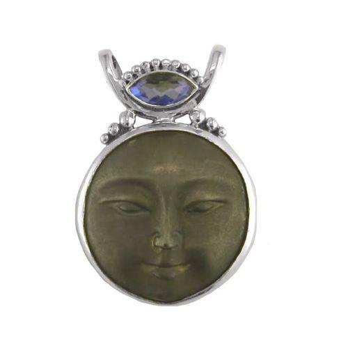 Offerings-Sajen-925-Sterling-Silver-Sand-Blasted-Bronze-Moon-Goddess-Pendant