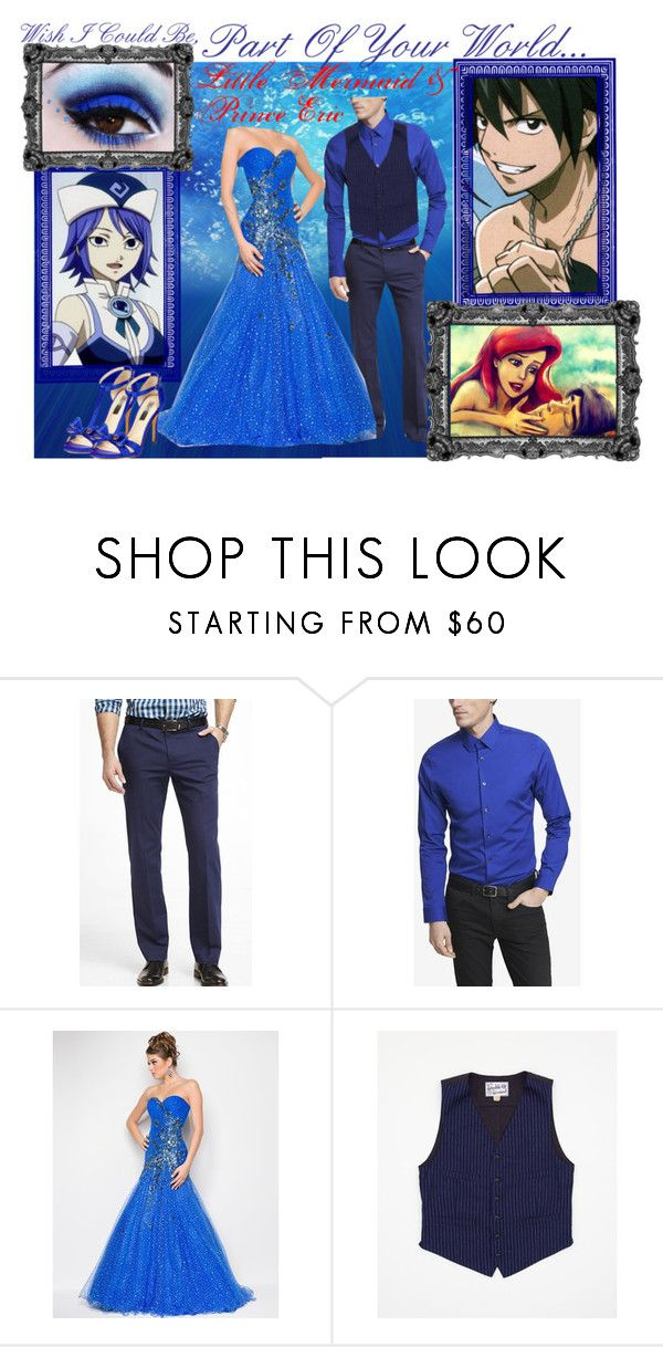 """Juvia & Gray ""Little Mermaid & Prince Eric"""" by bluerose423 ❤ liked on Polyvore featuring Juvia, Express, The Real McCoy's and INC International Concepts"