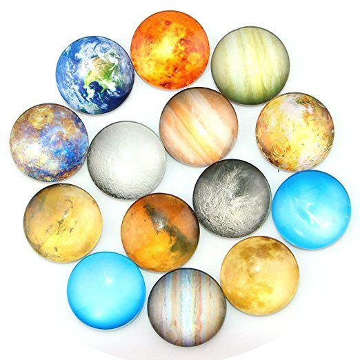 Ktdorns Planetary Fridge Magnets -14 Pack