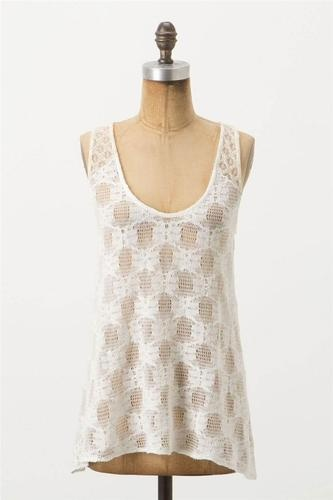 Anthropologie Poinciana Lace Tank Top