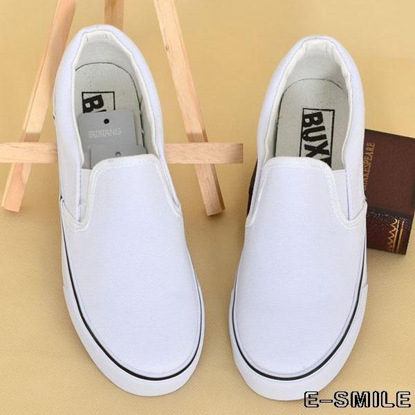 puro baixo sapatos de lona mulheres& homens sapatos deslizamento em sapatas pisar preguiçoso sapatos plataforma US $24.50
