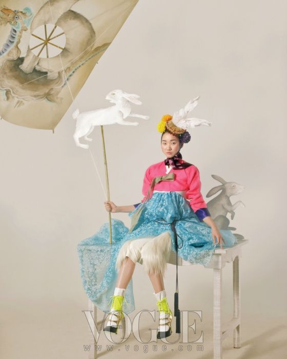 Happy Bunny Girl' photographed by Lee Gun Ho featuring Jang Yoon Ju, Vogue February 2011