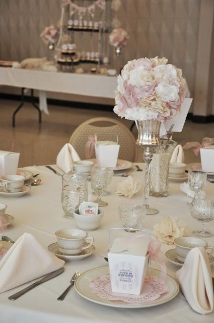 vintage inspired decorations for bridal shower