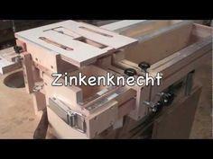 Der Zinkenknecht, selbst gebautes Zinkenfräsgerät, a home made dovetail jig - YouTube